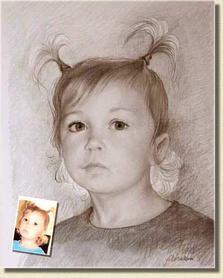 Portrait zeichnung - Dessins de filles ...